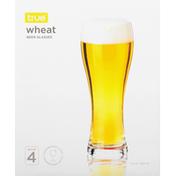 True Wheat Beer Glasses, Set of 4