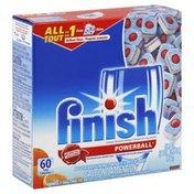Finish Automatic Dishwasher Detergent, Powerball Tabs, Orange Scent