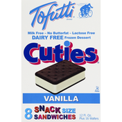 Cuties Tofutti Dairy Free Frozen Dessert Sandwiches Vanilla - 8 CT