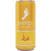 Barefoot Pinot Grigio White Wine 1 Single Serve Can