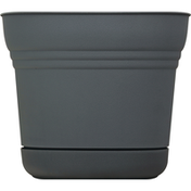Bloem Planter, Saturn Charcoal, 10 Inches