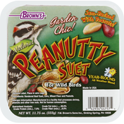 Brown's Suet, Natural, Peanutty, For Wild Birds