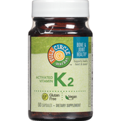 Full Circle Activated Vitamin K2 Supports Healthy Heart & Bones Dietary Supplement Vegan Capsules