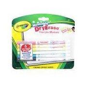Crayola Cryl Dry Erase Mrkrs 6 E