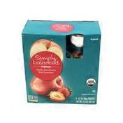 Simply Balanced Organic Fruit Pouches Apple Strawberry