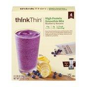 Think Thin High Protein Smoothie Mix Blueberry Banana - 4 PK
