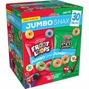 Kellogg's Jumbo Snax Cereal Snacks, Lunch Box Snacks, Variety Pack