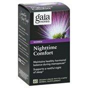 Gaia Herbs Nightime Comfort, Women, Vegan Liquid Phyto-Caps