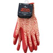 Digz Gloves, Garden, Nitrile Coated, Large