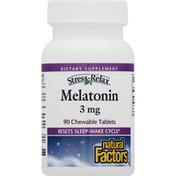 Natural Factors Melatonin, 3 mg, Chewable Tablets