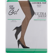 On the Go! Ultra Sheer Control Top Queen Coffee