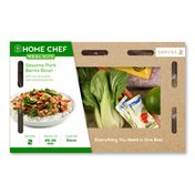 Home Chef Meal Kit Sesame Pork Bento Bowl With Rice, Broccolini, And Roasted Peanuts