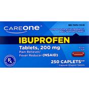 CareOne Ibuprofen, 200 mg, Caplets
