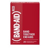 Band-Aid Brand Adhesive Bandages, (Red), Assorted Sizes