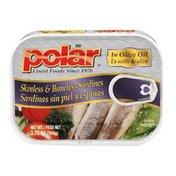 Polar Sardines In Olive Oil Skinless & Boneless