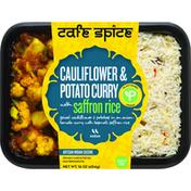 Cafe Spice Cauliflower & Potato Curry with Saffron Rice, Medium