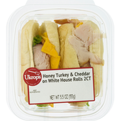 Ukrops Honey Turkey & Cheddar on White House Rolls, 2 Count
