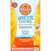 Metamucil Appetite Control Dietary Supplement Sugar Free Fiber Psyllium Powder
