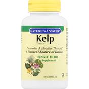 Nature's Answer Kelp Thallus, Capsules