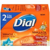 Dial Marula Oil Infused Miracle Oil Beauty with Moisturizers Soap Bars