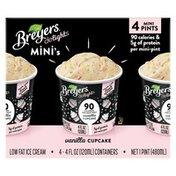 Breyers Reduced Fat Ice Cream Vanilla Cupcake Mini-pints