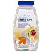 Up&Up Antacid 1000, Assorted Fruit, Ultra Strength, Chewable Tablets