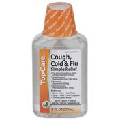 TopCare Simple Relief, Cough, Cold & Flu Non-Drowsy Pain Reliever/Fever Reducer (Nsaid), Cough Suppressant, Expectorant, Nasal Decongestant Liquid