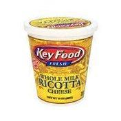 Key Food Ricotta Cheese, Whole Milk
