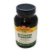 Country Life Coconut Activated Charcoal 260 Mg Digestive Aid Promotes Adsorption Of Intestinal Gas Dietary Supplement Vegan Capsules