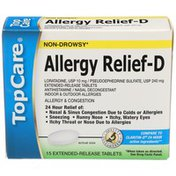 Topcare Health Non-drowsy Allergy & Congestion Relief Extended Release Tablets