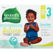 Seventh Generation Diapers, 3 (16-21 lbs)