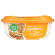Food Club Salted Sweet Cream Spreadable Butter With Canola Oil