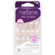 Nailene French Leaf Glue On Nails