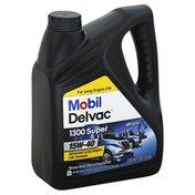 Mobil Engine Oil, Heavy Duty Diesel, 1300 Super, 15W-40