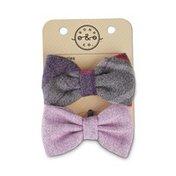 Bond & Co Purple Plaid Dog Bow Tie Collar