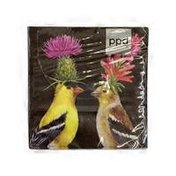 PPD Goldfinch Couple Beverage Napkins