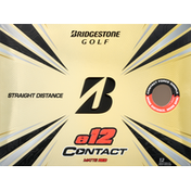 Bridgestone Golf Ball, Matte Red, e12 Contact, Straight Distance