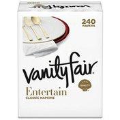 Vanity Fair Entertain Napkins, 240 3-Ply Paper Napkins