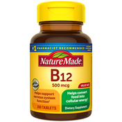 Nature Made Vitamin B12 500 mcg Tablets Value Size