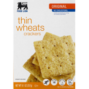 Food Lion Crackers, Thin Wheats, Original, Box