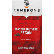 Camerons Coffee, Ground, Light Roast, Toasted Southern Pecan
