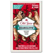 Old Spice Wild Collection Old Spice Wild Collection Bearglove Men's Bar Soap 2 Count  Male Personal Cleansing