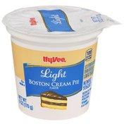Hy-Vee Boston Cream Pie Light Nonfat Yogurt