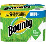 Bounty Select-A-Size Paper Towels, White,  Single Plus Rolls =  Regular Rolls