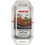 Handi-Foil Loaf Pans, Heavy Duty, 3 Pack