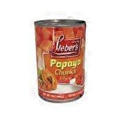 Lieber's Papaya Chunks