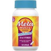 Metamucil With Calcium, Psyllium Husk Fiber Supplement