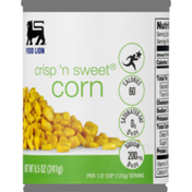 Food Lion Corn, Crisp 'N Sweet, Can