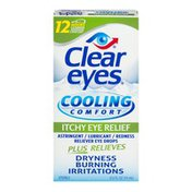 Clear Eyes Cooling Comfort Itchy Eye Relief Astringent/Lubricant/Redness Reliever Eye Drops