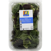 O Organics Baby Spinach & Butter Lettuce, Organic